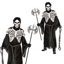 Mens Crypt Keeper New Adults Skeleton Grim Reaper Halloween Fancy Dress Costume