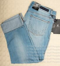 NWT ROCK & REPUBLIC Cropped Capri Jeans Distressed HEALING STONE Kendall 8 14 16