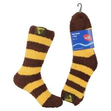 Hawthorn Hawks AFL Football Premium Soft Feel Bed Socks