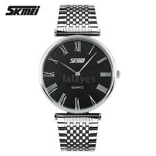 SKMEI Fashion Couple Watches Stainless Steel Band Analog Quartz Wrist Watch A2J4