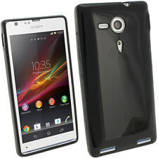 Glossy TPU Gel Skin Case Cover for Sony Xperia SP C5302 C5303 + Screen Protector