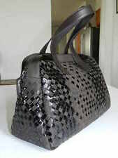 0591 Bottega Veneta Full Woven Leather Doctor Handbags 1 Black, 1 Brown