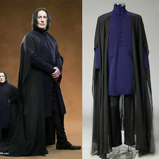 Harry Potter Deathly Hallows Severus Snape Costume Set Cosplay Coat Long Robe