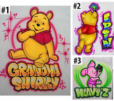 Airbrushed Custom Bear Winnie the Pooh T-shirt Bodysuit Hoodie Pillowcase