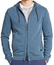 NWT $148 Madison Supply French Terry Teal Hooded Sweatshirt Hoodie Jacket; M, XL