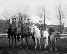 Children Horseback Riding 1923 Vintage 8x10 Reprint Of Old Photo