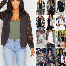 Fashion Womens Casual Punk Zip Up Long Sleeve Slim Jacket Outwear Biker Coat Top