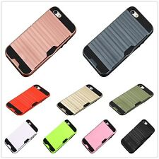 Dual Layer Slim Armour Hybrid Hard Cover Case Credit Card Holder For iPhone7Plus