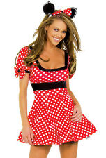 J Valentine polka dot adult Minnie Mouse costume
