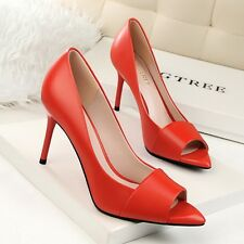 Elegant Solid Open Toe Pointed Toe Pumps Women High Heels Stilettos Party Shoes