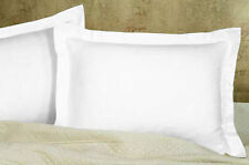 Set of 2 Piece Traditional Solid Pillow Shams 800 TC Cotton Choose color & Size