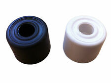 28mm Rubber Black Or White Door Stop Stopper Jam Skirting Floor Cylinder Wedge