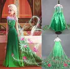 Girls Disney Princess Elsa Frozen dress costume Anna party dresses cosplay Cloth