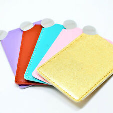 Stainless Steel Card Mirror Compact No Broken GOLD/PINK/RED/GREEN/PURPLE