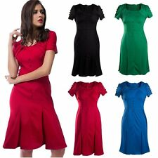Formal Women Ladies Business Meeting Party Celeb Bodycon Pencil Short Dress