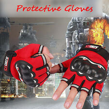 Half Finger Gloves Motocross Racing Biker Motorcycle Cycling Protective 6 Color