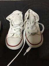 White High Top Converse Size 5 Infant Unisex Boys Girls