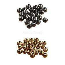 25pcs Tungsten Slotted Fly Tying Beads Nymph Head Ball Beads 4 Size Hook Sinking