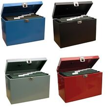 File Storage Box Metal Home Office Filing A4 Files Organiser Cabinet Document