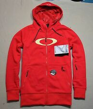 NWT WOMEN OAKLEY HOTEL ELLIPSE HOODY RED LINE FULL ZIP UP HOODIE JACKET SZ M L