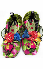 """NEW Goody Goody Bon Bon comfy Silk Slippers """"Victoria"""" Womens size Small - Large"""