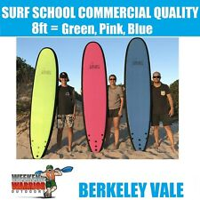 Softboard 8 Foot Adult Surfboard Learn to Surf PINK BLUE RED