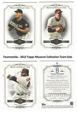 2012 Topps Museum Collection Baseball Team Sets ** Pick Your Team Set **