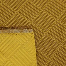 """Gold and Tan Striped Diamond Check Drapery Fabric By The Yard 54""""W Reversible"""