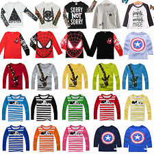New Baby Kids Boys Girls Cartoon Batman Spider-Man Mickey Mouse Tee Tops T-Shirt