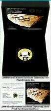2008 Olympic Games Handover Silver Proof £2 Pound Coin