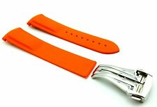 ORANGE 20mm Rubber/Silicone STRAP/BAND fit OMEGA WATCH SeaMaster PLANET OCEAN