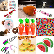 Dog Puppy Pet Chew Play Squeaky Sound Plush Lovely Toys Chaser Wand