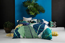 NEW Miconia quilt cover set by Kas - cotton blue bedding bed linen