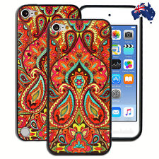 Orange Paisley Hard Case for Apple iPod Touch 5 5th 6 6th Gen Cover