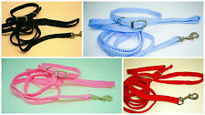 Rosewood Soft Weave Puppy Dog Collar and Lead Set - Choice of Colours