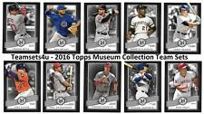 2016 Topps Museum Collection Baseball Team Sets ** Pick Your Team Set **