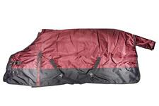 "1200D Waterproof Turnout HEAVY WEIGHT HORSE WINTER BLANKET-BURGUNDY, 68""-78"""