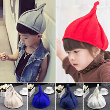 Xmas Halloween Warm Steeple Baby Children Pointy Knit Hat Pumpkin Hat Nipple Cap