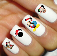 Nail Decal Disney Mickey Mouse Merry Christmas Waterslide Transfer Peel Apply