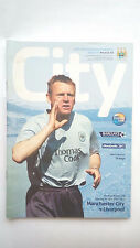Man City v Liverpool premiership football programme