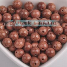 Wholesale Natural Goldstone Gemstone Round Loose Spacer Beads 4/6/8/10/12/14mm