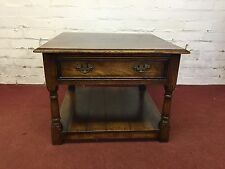 TOP QUALITY SOLID OAK COFFEE TABLE WITH DRAWER