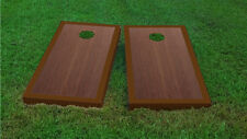 Premium Brown Border Rosewood Stained Cornhole Board Game Set