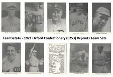 1921 Oxford Confectionery E253 Reprints Baseball Sets ** Pick Your Team Set **