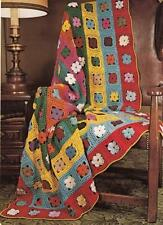 Lovely DAISY AFGHAN CROCHET PATTERN~Granny Square Daisies PRETTY!