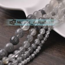 Charms 4/6/8/10mm Gemstone Ghost Crystal Round Loose Spacer Beads Jewelry Making