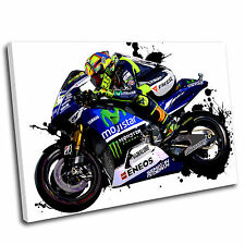 Valentino Rossi Canvas Grunge Wall Art Print Framed Picture 8 Gallery Grade