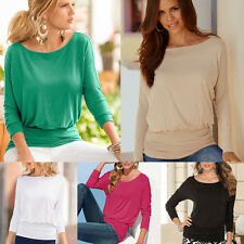 Autumn Women Casual Loose Bottoming T-shirt Chic Pleated Long Sleeve Tops Blouse