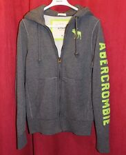 Abercrombie & Fitch Mens Logo Full Zip Hoodies Grey Fashion Cool Sizes S M