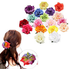 1pcs Hair Clip Bridesmaid Women New Bridal Wedding Party Rose Flower Hairpin